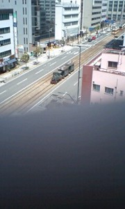 エゴ・みたすの事務所ビルの屋上からの景色