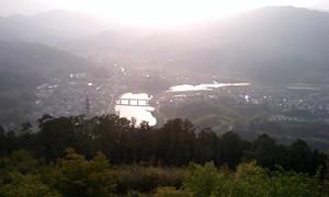 大洲市が一望できる冨士山